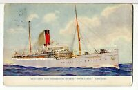 1909 - S.S. DOVER CASTLE, Union Castle Mail Steamship Co, London Ship Postcard