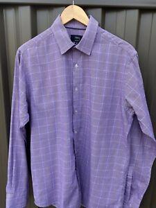 BLAQ Mens Long Sleeve shirt - size 40 (medium) tailored fit