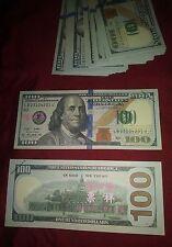 100x $100 Bills Best Novelty Movie Prop Play Fake Money Joke Prank Not tender