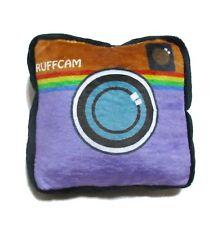 soft squeaky stuffed dog pet toy insta camera ruffcam fun purple square cute fun