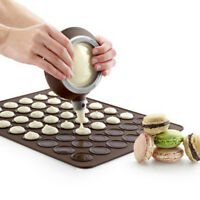 Silicone Macaron Macaroon Pastry Oven Baking Mould Sheet Mat 30-Cavity DIY Mat