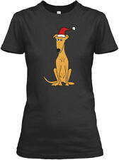 Funny Cute Greyhound Dog Christmas Art Gildan Women's Tee T-Shirt