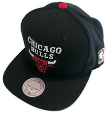 Chicago Bulls Red Logo Basketball Mitchell Ness Snapback Adjustable Wordmark Hat