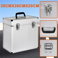 12'' Aluminium CD Vinyl LP Flight Case Record Box DJ Collection Storage Lockable