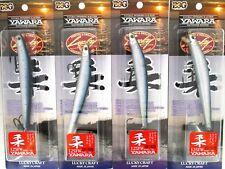 "New listing (4) Lucky Craft Flash Minnow Yawara 125Fw 5"" Jerkbaits Metallic Iwashi (Uroko)"
