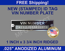 Stamped DATA PLATE Serial VIN Tag AMC BUICK JEEP GMC MERCURY DESOTO New ID USA