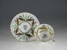 Royal Chelsea Scottish Thistle Tea Cup and Saucer, England c.1951