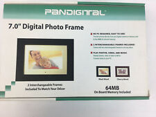 "Pandigital 7"" Digital Photo Frame 64MB with Two Interchangeable Frames"