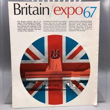 Vintage Expo 67 Britain Booklet Montreal 1967 Exposition jds
