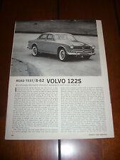 1962 VOLVO 122S    -  Original Vintage Article