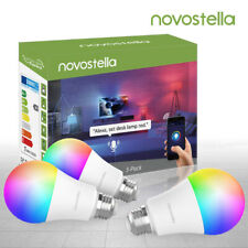 Novostella 3 Pack WiFi Smart Light Bulb LED 7W RGBCW A19 for Amazon Alexa Google