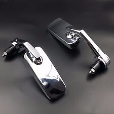Chrome Rectangle HANDLE BAR END MIRRORS For Ninja ZX YZF R1 R6 R6S CBR F4i GSXR