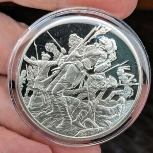 THE MEDALLIC HISTORY OF THE AMERICAN INDIAN FRANKLIN MINT 1 OZ STERLING SILVER~T