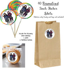 40 DESCENDANTS Personalize STICKERS for Lollipops goody bag birthday party favor