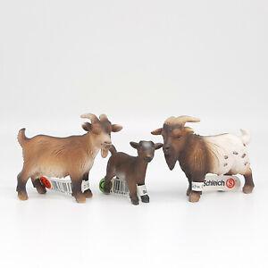 Schleich Dwarf Goats, 13601/13602/13611