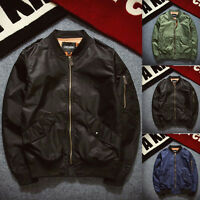 New MA1 Mens Army Pilot Biker Bomber Jacket Fly Military Security Coat Outwear