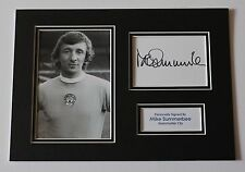 MIKE SUMMERBEE Manchester City Man HAND SIGNED A4 Autograph Photo Mount + COA