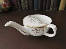19th C Porcelain Invalid/Feeder Cup-sponged & Fill s'applique decoration