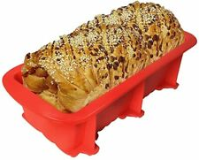 Silicone Rectangle Bread Pans Non-Stick Baking Mould Loaf Tins Bakeware Tray