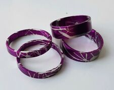"4x Custom Splash Anodized Purple 1 1/8"" Headset Spacers"