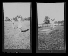 EARLY WOMEN GOLFERS LARGE NEGATIVES - SET OF 2