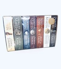 A Song Of Ice And Fire Game Of Thrones 7 Book Set + Map Of Westeros