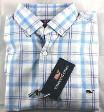 NEW Vineyard Vines Classic Fit Tucker Shirt Stony Bay Plaid Ocean Breeze Size S