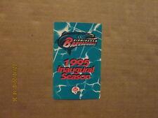 Cfl Birmingham Barracudas Vintage Circa 1995 Inaugural Season Football Schedule