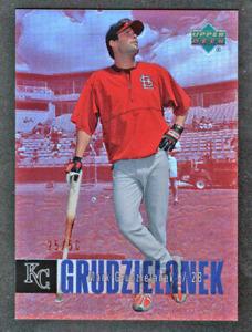 2006 UD Special F/X Red Refractor #428 Mark Grudzielanek #/50 Kansas City Royals