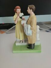 "Vintage Norman Rockwell Figurine ""The First Prom"", The American Family, 7in"