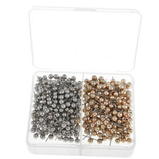 400 Pieces Map Tacks Push Pins 13 mm Small Size Shiny Silver & Gold Color