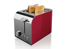 Toaster 7 browning settings Defrost reheat & stop function metallic effect Red