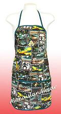 Unisex canvas Hawaiian print apron - 202Green