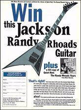Randy Rhoads Signature Jackson Pro model guitar 1994 contest form 8 x 11 ad