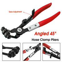45° Degree Angled Car Water Pipe Hose Clamp Pliers Swivel Drive Jaw Locking Tool