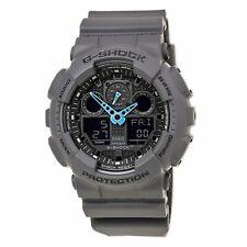 Reloj Para hombres Casio G-shock gris y negro correa de Ana-digi Dial Negro GA100C-8A