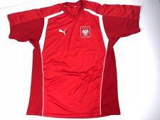 Puma POLSKA Poland National Soccer Team Jersey Embroidered Patch Red Men's XL