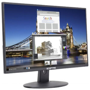 20in Sceptre 1600x900 Ultra Thin 75hz LED Monitor 2x HDMI VGA Built-in Speakers!
