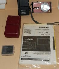 Panasonic LUMIX DMC-FX07 7.2MP Digital Camera - Red