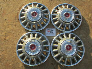 "1968 FORD MUSTANG DELUXE 14"" WHEEL COVERS, HUBCAPS, SET OF 4"