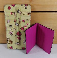 Slim Credit Card Holders/S2/Yellow Whimsy/Black-Pink Leather/Organizer