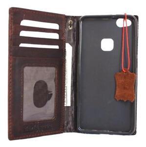 genuine natural leather Case for Huawei P10 Lite id window card slots Slim Davis
