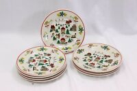 "Joy of Xmas Salad Plates 7.5"" Set of 8"