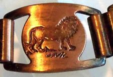 VINTAGE Copper Link Open Work Bracelet Estate Jewelry LION ELEPHANT GIRAFFE FAB!