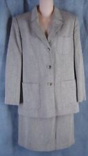 Talbots 10 Silk Wool Tweed Suit Skirt Blazer