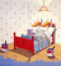 Michael Bedard LIVING TOGETHER art print sitting ducks SM