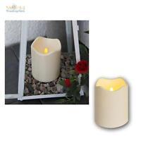 LED Kerze 12,5cm Ø10cm, Außen, Outdoor-Kerzen flammenlos flackernde candle