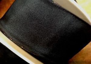 Vintage Rayon Ribbon Trim Acetate Black 1yd Made in France