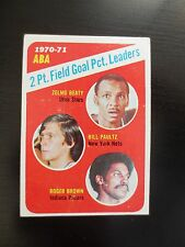 1971 American Basketball Association ABA Topps Card #148 Field Goal Pct. Leaders