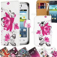 Leather Wallet Magnetic Flip Case Cover For Various Samsung & iPhones